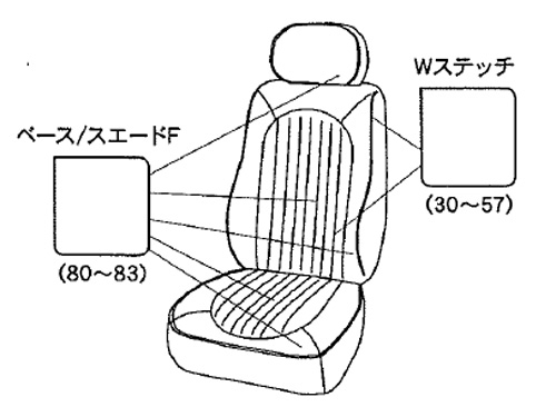CABANA 新型MINI(F56/F55) シートカバー パークレーンスエードタイプ (フルセット)