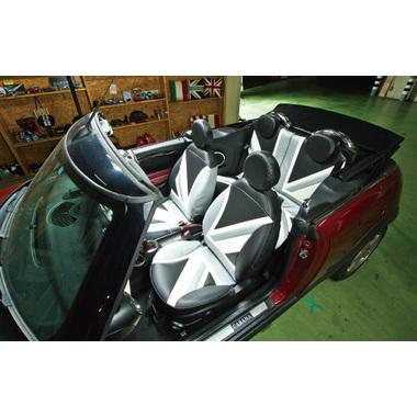 CABANA シートカバー ユニオンジャックカーボンスタイル (フルセット)