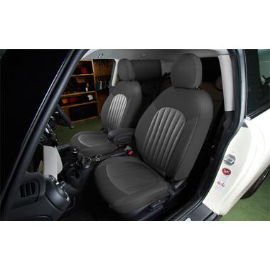 CABANA 新型MINI(F56/F55/F54)シートカバー パークレーン本革パンチングスエードタイプ (フルセット)
