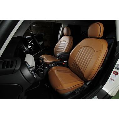 CABANA 新型MINI(F56/F55)シートカバー パークレーン本革パンチングタイプ (フルセット)